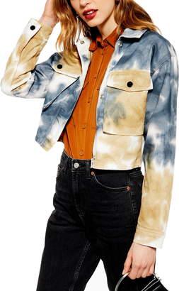 Topshop Leon Tie Dye Shirt Jacket
