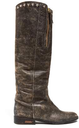 Golden Goose Charlye distressed-leather knee-high boots