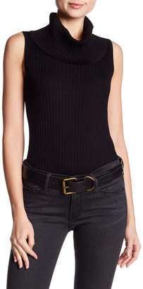 Cable & Gauge Turtleneck Sleeveless Sweater