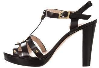 Gastone Lucioli Ankle Strap Platform Sandals