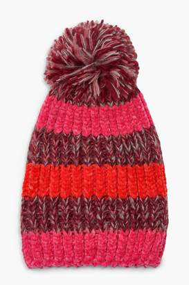 boohoo Colourblock Stripe Beanie
