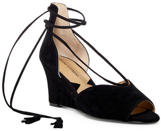 Adrienne Vittadini Marcey d'Orsay Wedge Sandal $99 thestylecure.com