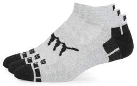 Puma Three-Pack Logo Terry Low-Cut Socks