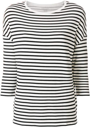 Majestic Filatures striped 3/4 sleeve top