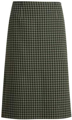 Mary Katrantzou Storm checked hound's-tooth wool-blend skirt