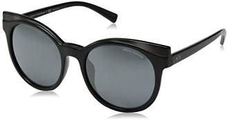 Armani Exchange Women's Injected Woman Sunglass Iridium Round
