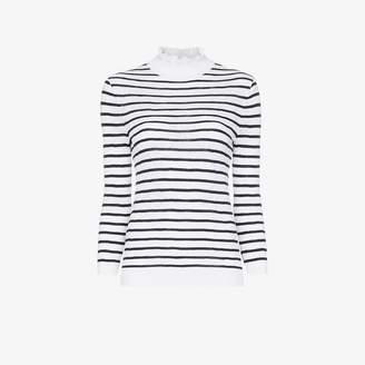 Chloé turtleneck striped cotton blend jumper