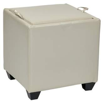 Office Star OSP Designs by Products Storage Ottoman with Tray