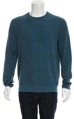 Theory Woven Crew Neck Sweater