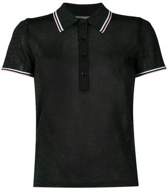 Alexander Wang lurex polo shirt