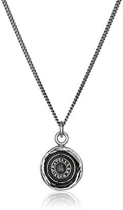 Pyrrha Talisman Sterling Safe Travels Pendant Necklace
