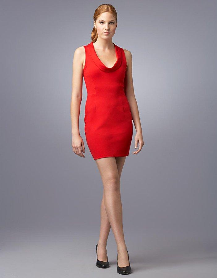 Cynthia Steffe Sleeveless Cowl-Neck Ponté Sheath Dress