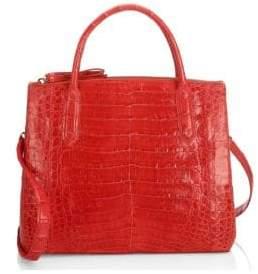 Nancy Gonzalez Medium Nix Crocodile Top Handle Bag