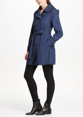 DKNY Solid Trench Coat