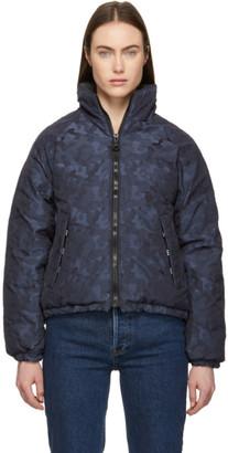 Ienki Ienki Reversible Blue Camo Down Jacquard Jacket