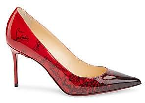 Christian Louboutin Women's Ombré 85 Patent Leather Point Toe Pumps