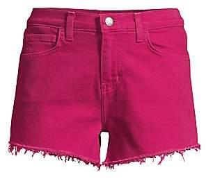 L'Agence Women's Ryland High-Rise Cutoff Denim Shorts