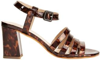 Maryam Nassir Zadeh Palma Tortoise Patent Leather Sandals