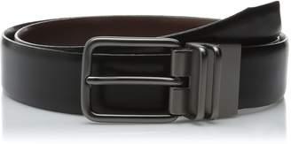 Haggar Men's 32MM Burnished Reversible Belt
