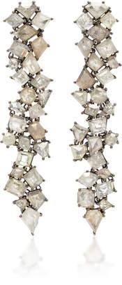 Sylva & Cie 18K White Gold Diamond Earrings
