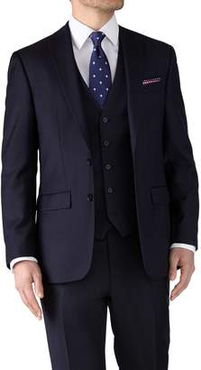 Charles Tyrwhitt Navy Classic Fit Twill Business Suit Wool Jacket Size 40