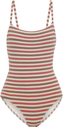 Solid & Striped The Nina Metallic Striped Swimsuit