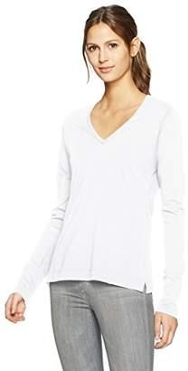 ADAM by Adam Lippes Women's Long Sleeve V Neck T-Shirt