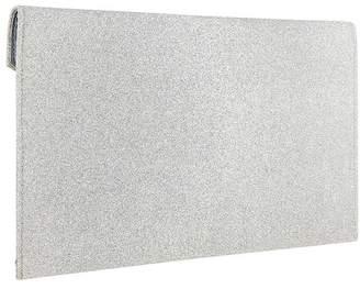 Accessorize Womens Silver Lily Glitter Envelope Clutch - Silver