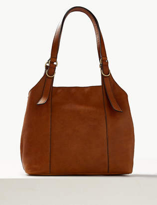 Marks and Spencer Leather 3 Compartment Hobo Bag