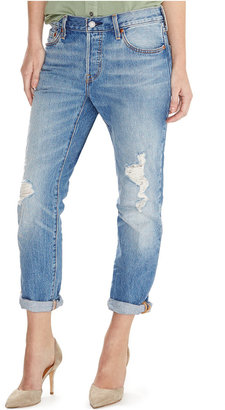 Levi's 501 Ct Customized Tapered Boyfriend Jeans $64.50 thestylecure.com