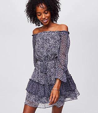 LOFT Blossomed Tassel Dress