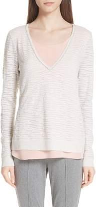 St. John Scarlett Stripe Knit Sweater