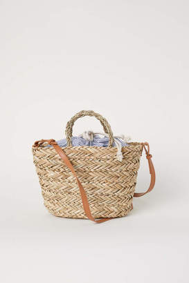 H&M Straw Bag with Fabric Bag