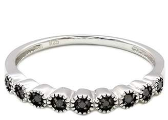 Black Diamond Savvy Cie Sterling Silver Band Ring - 0.15 ctw