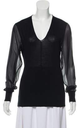Reed Krakoff Semi-Sheer Knit Sweater