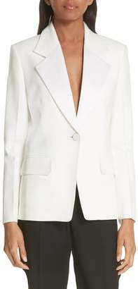 Helmut Lang Shiny Lapel Canvas Blazer