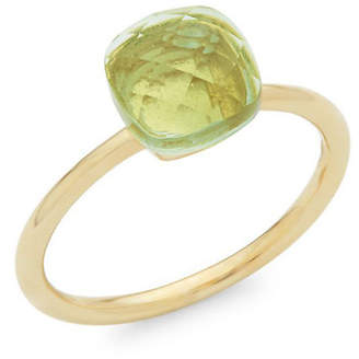 Saks Fifth Avenue Gold Green Amethyst Cushion-Cut Ring