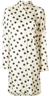 Hache polka dot shirt dress