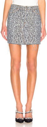 GRLFRND Blaire Mini Pencil Skirt in Wild Cat | FWRD