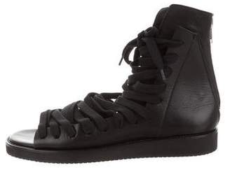 Kris Van Assche Leather Lace-Up Sandals