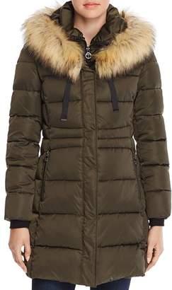 T Tahari Stefani Fitted Puffer Coat
