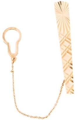 18K Patterned Tie Clip