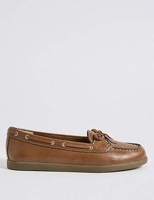 Marks and Spencer Leather Boat Shoes with Insolia Flex®