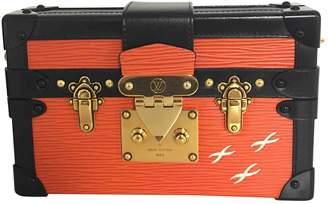Louis Vuitton Petit Malle Orange Leather Handbag