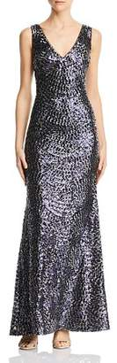 Laundry by Shelli Segal Embroidered Sequin Gown