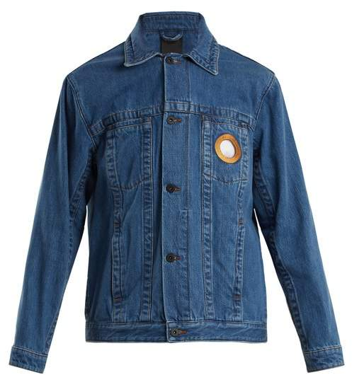 Circle cut-out denim jacket