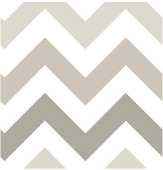 Brewster Home Fashions Taupe Zig Zag Peel and Stick Wallpaper