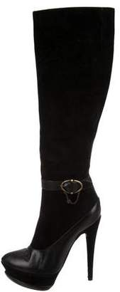 John Galliano Suede Knee-High Boots