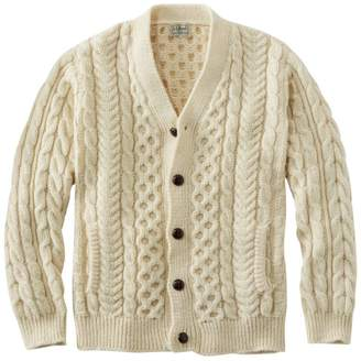 L.L. Bean L.L.Bean Heritage Sweater, Irish Fisherman's Cardigan