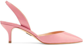 Paul Andrew Rhea Patent-leather Slingback Pumps - Baby pink